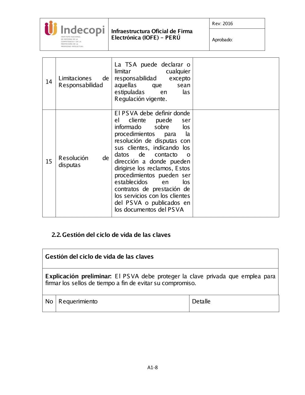 ANEXO 1 MARCO DE POLÍTICA DE SVA - Inicio - Indecopi